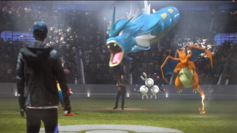 Nova atualização de Pokémon GO! lutas PvP e a troca de Pokémons.