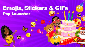 Baixar Pop Launcher - Black Emojis & Themes para Android
