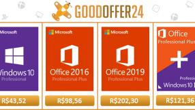 Ganhe um grande desconto usando cupom de 15%, licenças do Windows 10 por apenas R$43,52 e Office 2016 por R$98,56