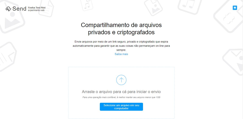 Acesse Firefox Send