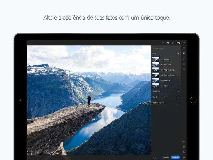 Donwload do app Adobe Lightroom CC para iOS grátis