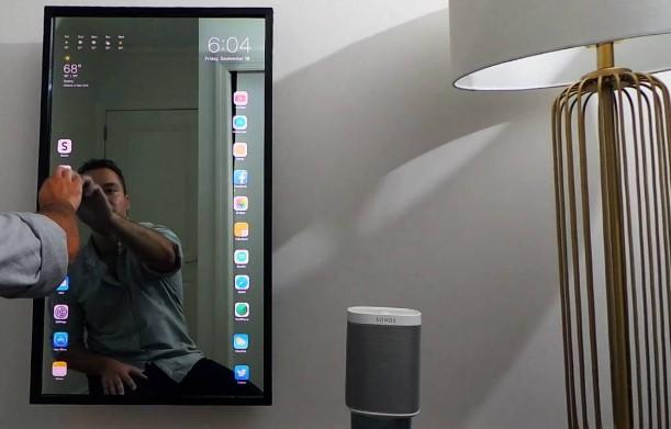 Futuro! Fã cria o Apple Mirror, um espelho inteligente.