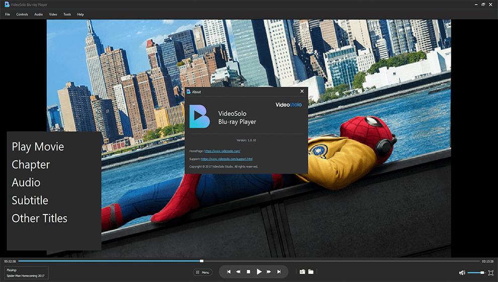 Donwload do programa VideoSolo Blu-Ray Player para Mac grátis
