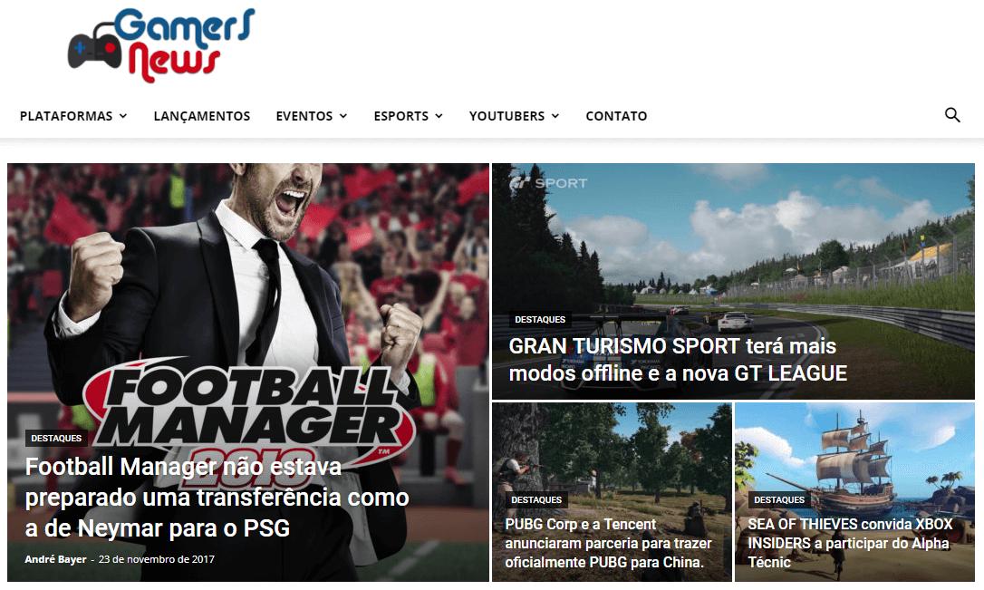 Acessar Gamers News no Navegador