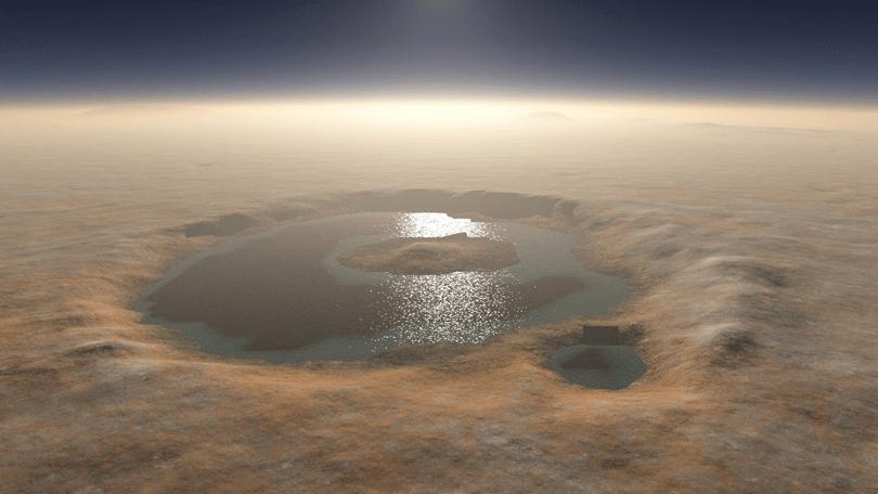 Europa encontra água líquida em Marte