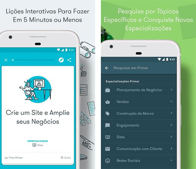 Donwload do aplicativo Google Primer grátis para iOS