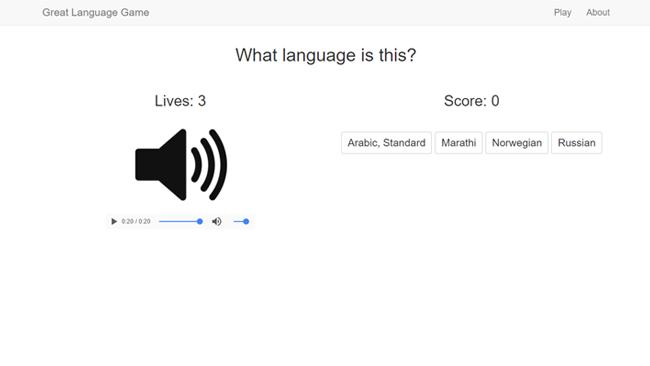 Jogar The Great Language Game para navegador