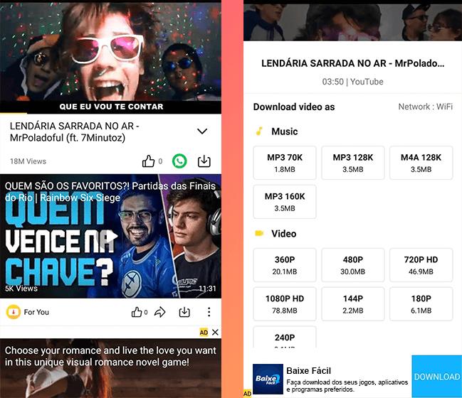 Faça donwload do aplicativo SnapTube de forma grátis