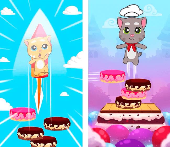 Donwload do jogo Talking Tom Cake Jump para iOS grátis